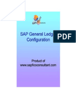 SAP GL configuration