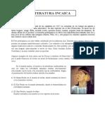 Literatura Incaica 1º a-b