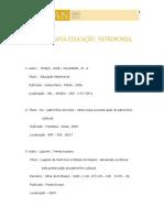 Bibliografia da Educao Patrimonial.IPHAN