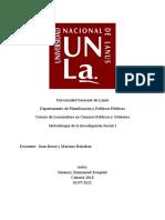 Metodología de la Investigación Social I Parcial Nº2
