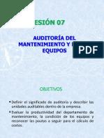 SESION 07-AUDITORIAS DEL MANTENIMIENTO INDUSTRIAL