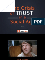 SXSW 2011 - The Crisis of Trust in a Social Age