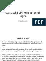 Note Sulla Dinamica Dei Corpi Rigidi