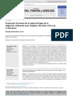 Evaluación funcional de la etapa faríngea de la deglución utilizando sonar Doppler.
