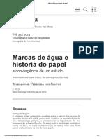 Buzano e Thomate Marcas de água e historia do papel