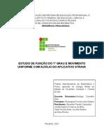 Projeto Interdisciplinar - Função do 1º Grau e Movimento Uniforme