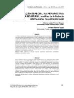 Educação Especial na Perspectiva Inclusiva no Brasil
