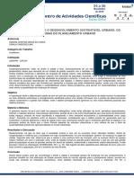 O DIREITO À CIDADE E O DESENVOLVIMENTO SUSTENTÁVEL URBANO OS DILEMAS DO PLANEJAMENTO URBANO- EAC 2020