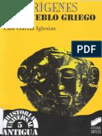 Garcia Iglesias Luis - Los Origenes Del Pueblo Griego