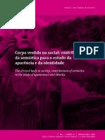Corpo Vestido No Social Contribuições Da Semiótica Para o Estudo Da Aparência e Da Identidade