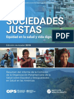 PAHO OPS 2019 - DSS Resumen y Justicia Social - Sociedades Justas (Octubre 2019)
