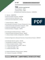 estrutura organizacional do depen