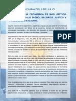 Proclama Del 9 de Julio - Fernanda Vallejos