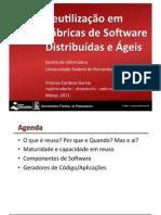 Reuso de Software em Fábricas Distribuídas e Ágeis