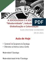 A Sociologia e a Sociedade - Modernidade