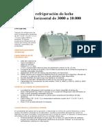 Tanques de refrigeración de leche cilíndrico Horizontal de 3000 a 10