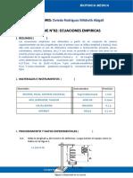 Informe N°02_Ecuaciones Empíricas