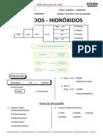 Sesión 2 Oxidos - Hidróxidos