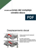 Alteraciones del complejo cóndilo-disco