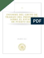 Informe del Grupo de Trabajo del Presidente Sobre el Status de Puerto Rico - Mayo 2011 (Español)