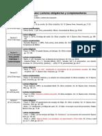 0_Lista de lecturas obligatorias y complementarias de Psicoanálisis del arte