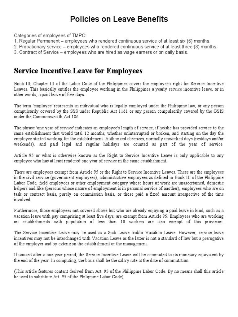 Policies on leave benefits sick leave parental leave xflitez Choice Image