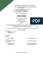 Contribution à l'étude des performances de la croissance des agneaux de la race Ouled Djellal dans la région de Bordj Bou_