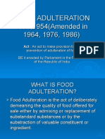 FOOD ADULTERATION ACT,1954