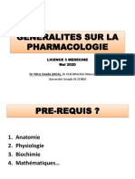 Généralités pharmaco 2020