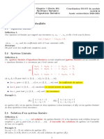 Chapitre 3 (Partie III) -Systemes Linéaires d'Équations Linéaires