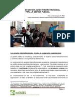 ARTICULACIÓN INTERINSTITUCIONAL EN LA  GESTION PUBLICA