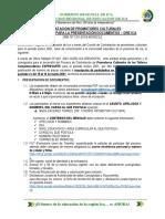 ORIENTACIONES PARA LA PRESENTACION DE DOCUMENTOS