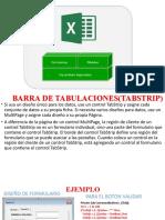 BARRA DE TABULACION