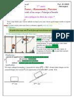 Cours 3 Le Poids D-un Corps-Principe D-Inertie
