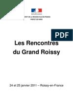 Rencontres du Grand Roissy Actes compilés