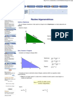 Razoes trigonometricas