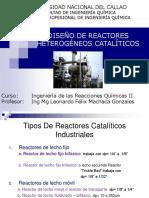 Diseño de Reactores Catalíticos 2020a