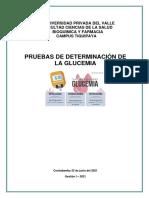 DETERMINACION DE GLUCEMIA