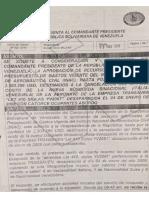 Documentos Sobre Las Gestiones Oficiales Del Gobierno de Venezuela e Italia Para La Búsqueda de La Aeronave Siniestrada en 2008.