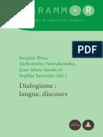 Jacques Bres_ Aleksandra Nowakowska_ Jean-Marc Sarale_ Sophie Dialogisme_