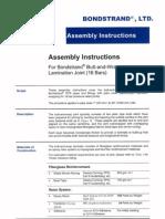 RTR - Assembly Instruction Butt-And-Wrap Lamination Joint (16 Bars)-BONDSTRAND