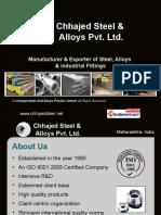 Chhajed Steel And Alloys Private Limited Maharashtra India