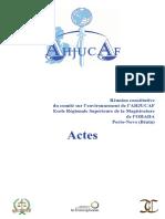 Réunion constitutive du comité sur l'environnement de l'AHJUCAF Ecole Régionale Supérieure de la Magistrature de l'OHADA Porto-Novo (Bénin)