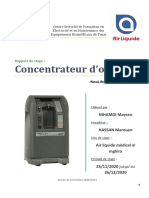 rapport de stage T2 concentrateur d'o2 Maysen Mhamdi