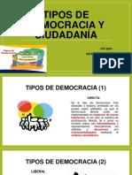 TIPOS DE DEMOCRACIA Y CIUDADANIA PPT