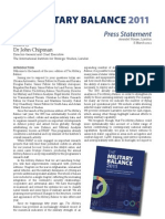 Military Balance 2011 Press Statement