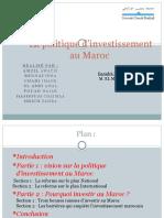 La politique d_investissement au Maroc-1