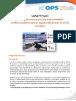 Programa Curso - Prevención secundaria de enfermedades cardiovasculares