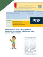 S1 JULIO 3er y 4to CC.ss Ficha Experiencia de Aprendizaje