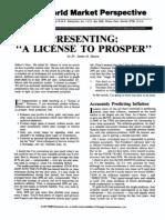 A License to Prosper